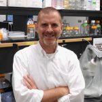 Dr. David Julian in his lab.