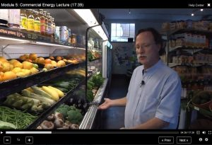 Dr. Wendell Porter describes energy use in a grocery store produce display.