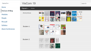 Blogger organizes thumbnail images by student